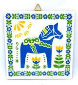 Swedish Dala Horse Tile Trivet