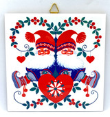 Lappland Santas & Heart Tile Trivet