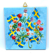 Sweden Flags & Flowers Tile Trivet
