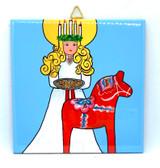 Lucia & Dala Horse Tile Trivet