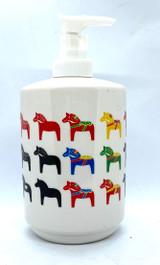 Mulitcolored Dala Horse Soap Dispenser