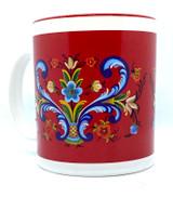 Classic Red Rosemaling Mug