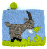 Goat Felted Coin Purse