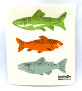 Gone Fishing Swedish Dishcloth