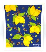 Provencal Lemons Swedish Dishcloth