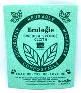 Green Love Swedish Dishcloth