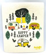 Happy Camper Door County Swedish Dishcloth