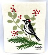 Forest Woodpecker Swedish Dishcloth