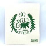 Wild and Free Swedish Dishcloth