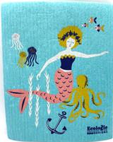 Mermaids Swedish Dishcloth