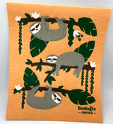 Happy Sloth Swedish Dishcloth