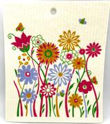 Flower Garden Swedish Dishcloth