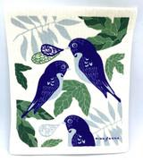 Bluebirds Swedish Dishcloth