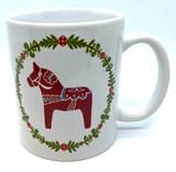 Dala Horse Wreath Coffee Mug