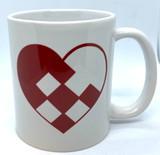 Heart Checkerboard Coffee Mug