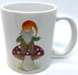 Gnome Mushroom Coffee Mug
