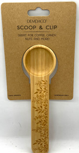 Prairie Flower Wooden Scoop and Clip