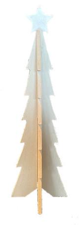 Large Scandinavian Wood Christmas Tree