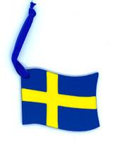 Swedish Flag Wood Ornament