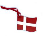 Danish Flag Wood Ornament