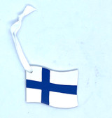 Finnish Flag Wood Ornament