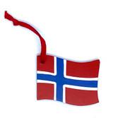 Norwegian Flag Wood Ornament