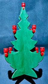 Large Swedish Wood Christmas Tree Votive