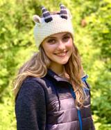 Al Johnson's Goat Knit Headband (white)