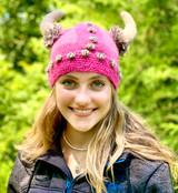 Knit Viking Helmet (pink)