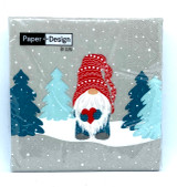 Tomte In Forest Cocktail Napkin