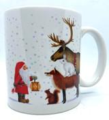Tomte and Animals Mug