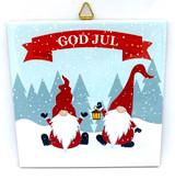 God Jul Tomten Duo Tile Trivet