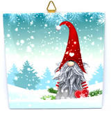 Tomte with Hearts Tile Trivet