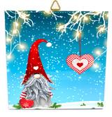 Hanging Heart Tomten Tile Trivet