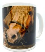 Tomten, Horse, and Cat Mug