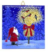 Straw Feeder and Tomten Tile Trivet