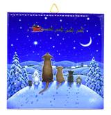 Animals Watching Santa Tile Trivet