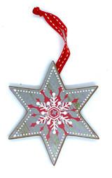 Nordic Gray Star Ornament