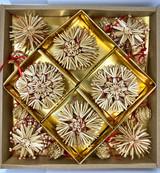 Snowflake, Star, & Pinecone Straw Christmas Ornaments