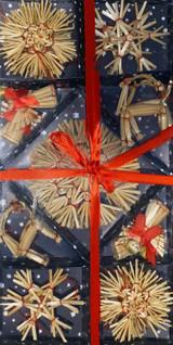 28 Piece Straw Christmas Ornaments