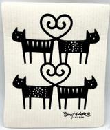 Cat Love Swedish Dishcloth