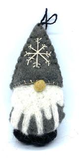 Tomten Felt Ornament (gray)