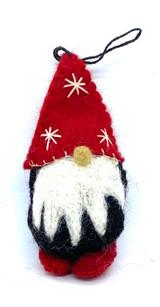 Tomten Felt Ornament (red)