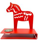 Large Red Dala Horse Tea Light