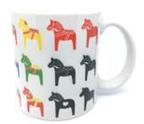 Multicolored Dala Horse Mug