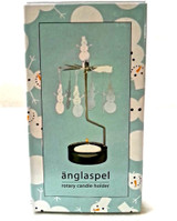 Änglaspel Snowman rotary candle holder