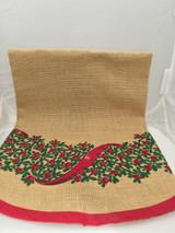 Lingonberry Bush Christmas Tree Skirt