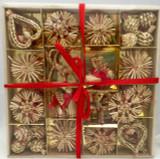 56 piece Swedish Straw Ornament set
