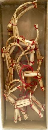 6 piece Swedish Straw Goat Ornaments