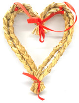 Swedish Straw Heart Wreath